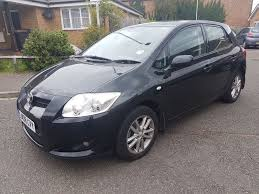 toyota auris 1 6 tr vvt i 5dr hatchback petrol manual black 2008