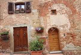 picturesque doorways to the tuscan homes in certaldo home of