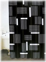 Shower Curtains Black Black Bathroom Shower Curtains Home Design And Decorating