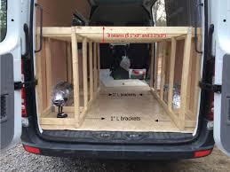 Shelves For Vans by Bed Frame Construction U2013 Sprinter Van Diaries
