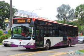 mercedes road service smrt mercedes citaro sg1037b service 167 land transport