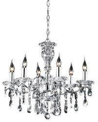 Lighting Chandeliers Traditional Indoor 6 Light Chrome Crystal Candle Light Chandelier