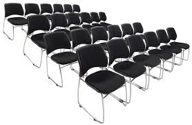 lb capacity premium padded ganging stack chair