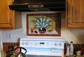 Kitchen Mural Backsplash Mexican Tile Kitchen Backsplash Interior Design Decor