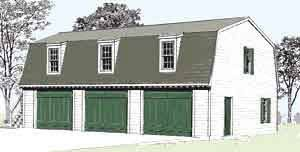 gambrel roof garages amazon com garage plans colonial williamsburg style three car