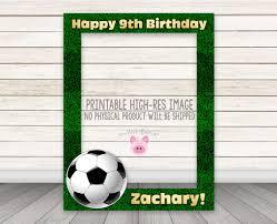 printable soccer photobooth frame football photo booth frame