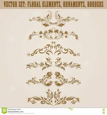 set of vector damask ornaments stock vector image 75101959