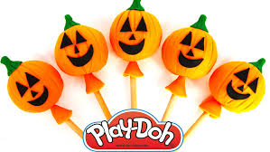 halloween birthday candles halloween pumpkin play doh lollipops surprise toys for kids peppa