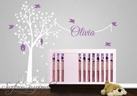Tree Decal For Nursery Wall Nursery Wall Decal With Name Decal Garden Tree