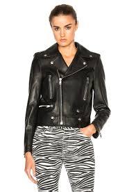 black motorcycle jacket saint laurent classic motorcycle jacket in black fwrd