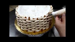 how to create a basketweave for cake decorations flower basket