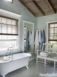 modern luxury bathroom blue interior no brandnames or copyright
