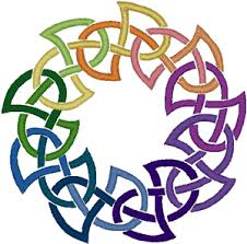colored celtic knot embroidery design