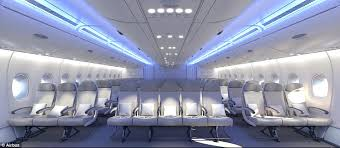 Emirates Airbus A380 Interior Business Class Airbus Plans To Install More Seats On The A380 Daily Mail Online