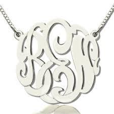 Custom Photo Necklace Personalized Monogram Necklace