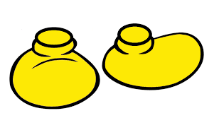 mickey mouse yellow shoes clipart clipartxtras