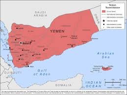 where is yemen on the map smartraveller gov au yemen