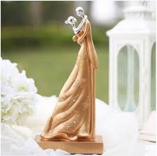gold wedding cake topper sweet gold wedding cake topper figurines and