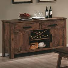 Small Sideboard With Wine Rack Awesome Solid Oak Dining Room Buffets Sideboards With Small Wine