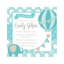Unique Baby Shower Invitation Cards Air Balloon Baby Shower Invitation Kawaiitheo Com