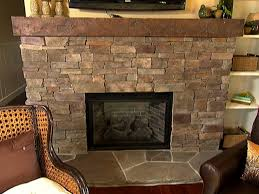 stacked stone fireplace how to video diy
