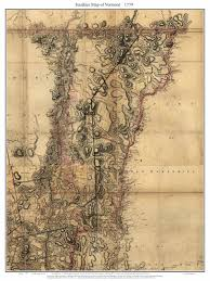 State Of Vermont Map by Sauthier Map Of Vermont 1779