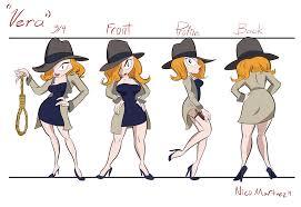 the art of nicolas martinez character model sheet vera