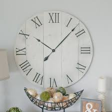 oversized clocks 30 in wall clock off white oversized wall clock rustic wall