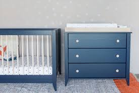 Blue Changing Table Alba Designs Colorful Children S Furniture