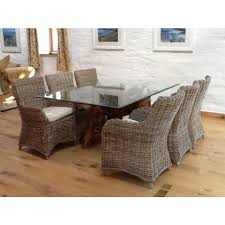 Sustainable Dining Table Reclaimed Teak Root Glass Topped Dining Table 1 8m X 1 2m
