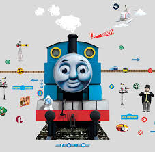 thomas the tank engine glow for me wall sticker blue thomas thomas the tank engine glow for me wall sticker blue thomas friends amazon co uk kitchen home