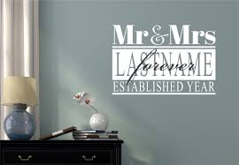 custome name mr mrs wedding date vinyl decal wall stickers custome name mr mrs wedding date vinyl decal wall stickers letters words