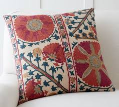 rozelle embroidered pillow cover pottery barn
