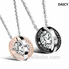 wholesale love necklace images Daicy wholesale fashion stainless steel love couple tanishq jpg