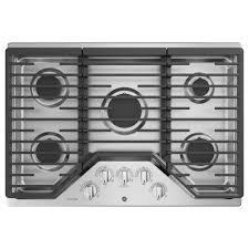 ge profile 30 in gas cooktop in stainless steel with 5 burners