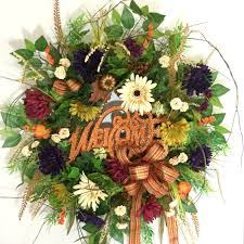 Outdoor Fall Decorations by Fall Wreaths For Sale Artificial Wreaths Autumn Wreaths