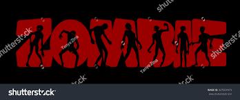 halloween zombie party invitation background zombie stock vector