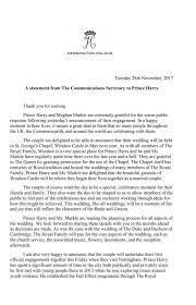 wedding statements 28 11 2017 the statement about prince harry and meghan