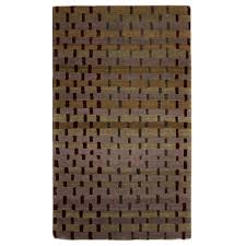 Green Modern Rug Tufenkian Modern Gold Green Brown Wool And Silk Rug 4432