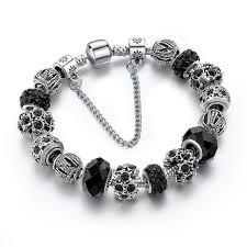 black bracelet with charm images Black friendship charm bracelet owlizh jpg