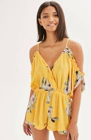 topshop posie off the shoulder romper nordstrom