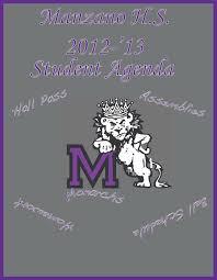 high school agenda manzano agenda cover drewgarcia