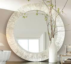 Pottery Barn Beveled Mirror Miranda Capiz Round Mirror Pottery Barn Dream Home Pinterest