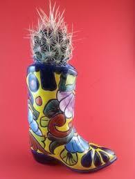 Cowboy Boot Planter by 19 Talavera Cowboy Boot Planter Pot Handmade Ceramic Mexican