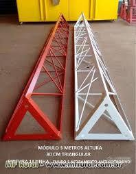 Famosos TORRE ESTAIADA (MÓDULOS 3 METROS - 30CM TRIANGULAR) em Palmas TO  @QU48