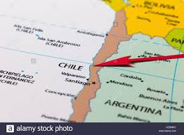 Map Of Sounth America by Red Arrow Pointing Chile On The Map Of South America Continent
