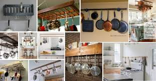 kitchen cabinet storage solutions diy pot and pan pullout 25 diy pot rack ideas easy ways to organize pots and pans