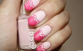 valentine u0027s day nail art pretty in pink hearts manicure photo