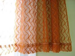 Burnt Orange Sheer Curtains Sheer Curtain Burnt Orange Rust Color One Panel Of Netted