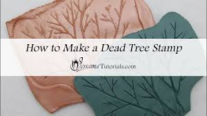 how to make a tree stamp from polymer clay